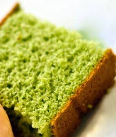 Nokcha cake - Korean green tea sponge cake.