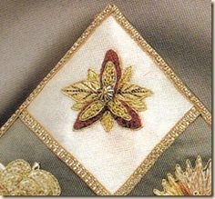 Elizabethan needlework by Sheila Marshall (borage flowers have been used as inspiration for embroidery since medieval times)