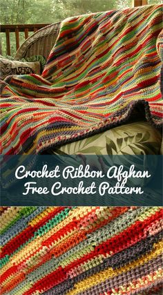 This afghan is very quick and very easy pattern that could be done by touch - it's repetitive and simple, the perfect afghan to work on in front of the TV. Scrap Yarn Crochet, Crochet Crafts, Easy Crochet, Knit Crochet, Crochet Blankets, Crochet Ideas, Afghan Crochet Patterns, Crochet Stitches, Crochet Afghans
