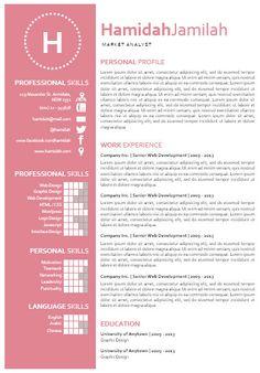 modern microsoft word resume template hamidah by inkpower 1200 - Microsoft Publisher Resume Templates