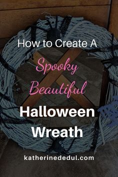 Create a spooky spin on your Halloween Decor this year by crafting a creepy spider wreath. With a little hot glue and some materials, you can DIY a Halloween Wreath to make your front door the most spine-chilling one on the block! #HalloweenWreath #HalloweenWreathDIY #HalloweenWreathIdeas #HalloweenCrafts #HalloweenDIY