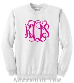 love monogram sweatshirts...perfect monogram font.