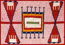sioux beadwork blanket, 1910