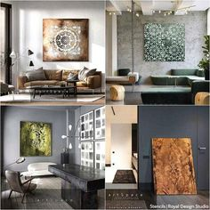 Jaw-Dropping Wall Plaster Finishes with Stencils NovaColor – Royal Design Studio Stencils Large Wall Stencil, Stencil Wall Art, Large Wall Decals, Wall Stencil Patterns, Stencil Painting On Walls, Stencils, Canvas Wall Decor, Diy Wall Decor, Home Decor