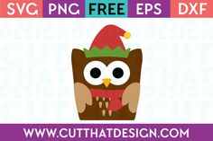 Cut That Design provides a large selection of Free Cutting Files. These are supplied in SVG, DXF, EPS and PNG Formats. We have a growing selection of cutting files with five new free files added each and every day. Cricut Fonts, Svg Files For Cricut, Owl Head, Christmas Owls, Freebies, Christmas Characters, Free Christmas Printables, Monogram Design, Paper Crafts