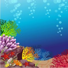 Use this as reward for fish in ocean Sea Drawing, Sea Life Art, Underwater Painting, Ocean Scenes, Fish Art, Paper Background, Sea Creatures, Under The Sea, The Little Mermaid