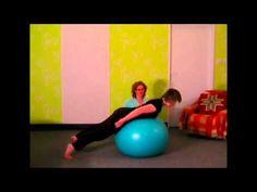 Posilnite si hrudnú chrbticu na FIT lopte - YouTube