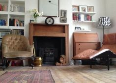 Poppy's Big View of London -- this is exactly what I want: big vintage pieces in a small (cosy) flat