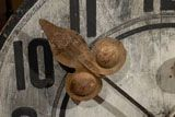 Large French Wooden Clock Face at #french #wood #clock #antique #gold #rare #decorating (via @1stdibs)