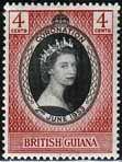 British Guiana Queen Elizabeth II 1953 Coronation Fine Mint SG 330 Scott 252 £0.18 Other British Guiana Stamps HERE