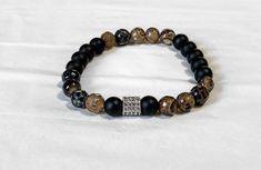 Men's Matte Black Onyx & Jade Bracelet