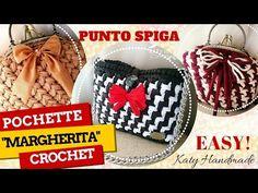 "Tutorial pochette ""Margherita"" uncinetto | Punto spiga bicolore || Katy Handmade - YouTube"