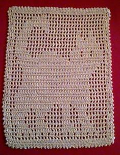 Filet crochet Cat Doily