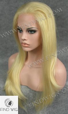 Lace Front Wig FW2-613. Straight Blonde Long Wig. New Style Wig. http://findwig.com/lace-front-wig-stright-blond-long-hair.html