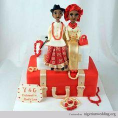Beautiful Colorful Nigerian Traditional Engagement Wedding Cake Ideas