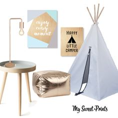 Let their imagination run wild with this gorgeous playroom sure to inspire! Table Lamp – Freedom Enjoy Every Moment Print – My Sweet Prints Happy Little Camper – My Sweet Prints Kids Teepee – Hard to Find Metallic Pouf – Adairs Stockholm Lip Side Table – Kmart By Admin | Filed under Uncategorized Share