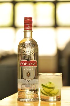 """Polish Vodka!   Green Concept Cocktail  1.5 oz Sobieski Vodka  0.5 oz Marie Brizard Triple Sec  4 wheels of Cucumber (leave skin on and cut them ¼"""" thick)  0.5 oz fresh squeezed Lime Juice  Top-up with 3 oz lemon-lime soda    Method: place the cucumber wheels in a rocks glass with the lime juice and muddle for just few seconds, add ice cubes and Sobieski vodka with Triple Sec, then top with lemon-lime soda. Stir and serve.  (Created by Francesco LaFranconi)"""