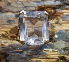 A vintage 9ct gold Pale blue translucent by BettyFrenchSheffield, £80.00