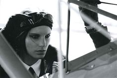 """For Hermès' fall/winter catalog, the high-fashion house has created an Amelia Earhart-themed spread for its Jean Paul Gaultier-designed collection. Inspired by the new movie? Or just coincidence? In any case, the image of Amelia has been brought back—the aviation record breaker, that is, and not our lovely site editor (although she is super stylish, too). In this series photographed by Peter Lindbergh, """"Amelia"""" is sexier than ever with strong and manly trench coats, fur-collar bomber…"""