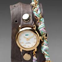 LA MER Pastel Friendship Bracelet Watch in Grey/Gold