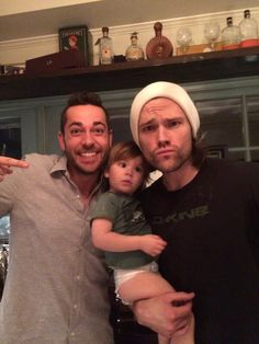 Zachary Levi with Jared and Thomas