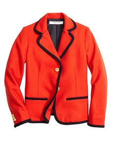 Wool Blazer - Brooks Brothers Such a fly take on classic prep.too cool for school. Let Elle Jay shop and style your kids young and old for back to school. Back To School Fashion, School Style, Girl Outfits, Fashion Outfits, Too Cool For School, School Uniform, Brooks Brothers, Outerwear Jackets, Preppy