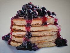 Blueberry Pancakes by Mary Ellen Johnson