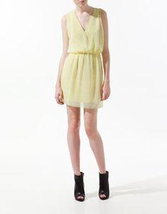 Simple and cute yellow dress - ZARA