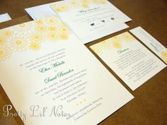 Fresh Garden Custom Color Wedding Invitation Set by PrEttYLiLNoTeS