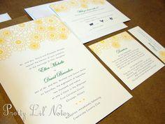 Fresh Garden Custom Color Wedding Invitation Set by PrEttYLiLNoTeS