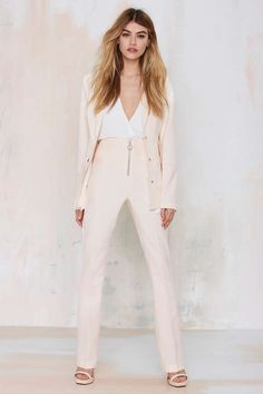 Nasty Gal Lola High-Waisted Trousers | Shop Electric Daisies at Nasty Gal