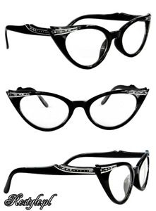 8e5fc800d810 Cat eye glasses - Black   Clear. If I ever get glasses