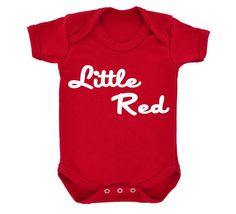 Little Red Babygrow for football fans Red with White by 1StopShops