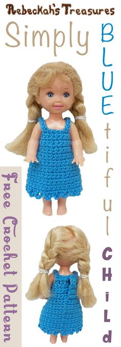 FREE crochet pattern for a Fashion Doll Tube Dress. The dress is ...
