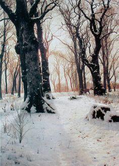 By Danish artist Peder Mørk Mønsted (1859-1941). A realist painter, his…