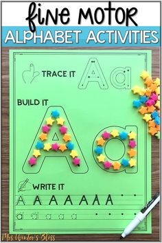 Fine motor alphabet activities are a fun learning center for preschool and kindergarten kids. In this blog post get free printables to use with your children today! #finemotor #finemotorskills #alphabetactivities #kindergarten #preschool Tracing Practice Preschool, Preschool Phonics, Learning Centers, Fun Learning, Alphabet Activities, Activities For Kids, Fine Motor Skills, Pre School, Free Printables