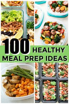 100 of the BEST Healthy Meal Prep Recipes all in one place - includes chicken, pork, beef, seafood, meatless, breakfast, snacks, and more! Tone-and-Tighten.com #mealprep