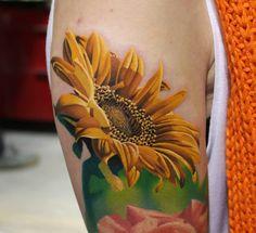 Realistic Sunflower Tattoo Designs | Sunflower Tattoo Inspiration | Perfect Tattoo Artists