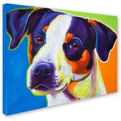 Trademark Fine Art Lady Baillee Canvas Art by DawgArt, Size: 24 x 32, Multicolor