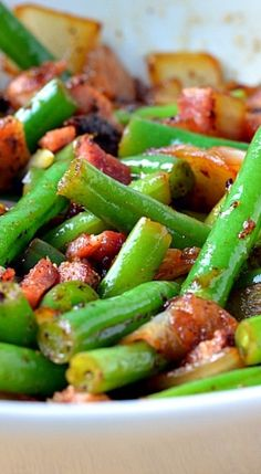 Bacon & Onion Green Beans
