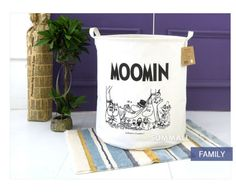 Moomin-Waterproof-Foldable-Linen-Laundry-Basket-Clothes-Toys-Bag-Bins-Strorage