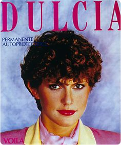 1980...Dulcia, our first perm solution with Ionène-GTM. Having revolutionized hair coloring, Ionène-GTM is included for the first time in a perm solution formula. The result is fantastic curls with superb softness and a conditioned feel. © L'Oréal Archives / DR