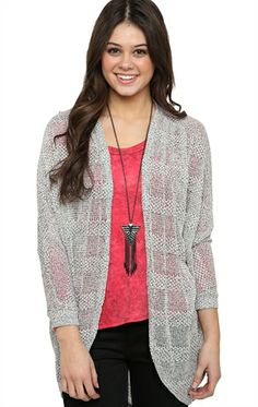 Deb Shops Long Sleeve #Sparkle #Cocoon #Cardigan $14.63