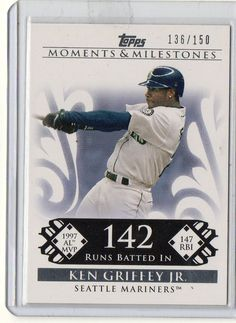 2008 Topps Ken Griffey Jr Moments & Milestones HOF #D/150 Seattle Mariners #SeattleMariners