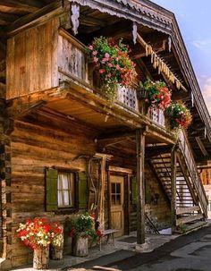 traditional Alpine hut