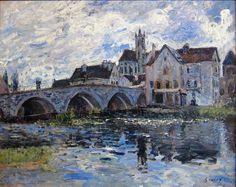 Alfred Sisley, Le Pont de Moret, effet d'orage, 1887, Le Havre, musée d'art moderne André-Malraux