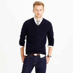 Slim lambswool V-neck sweater : LAMBSWOOL | J.Crew