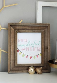 It's The Most Wonderful Time of The Year FREE holiday printable! Super cute and such an easy way to decorate for the holidays.