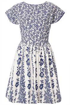 white and blue floral