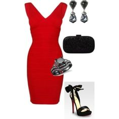 Perfect little red dress #holidayentertaining by wufffe